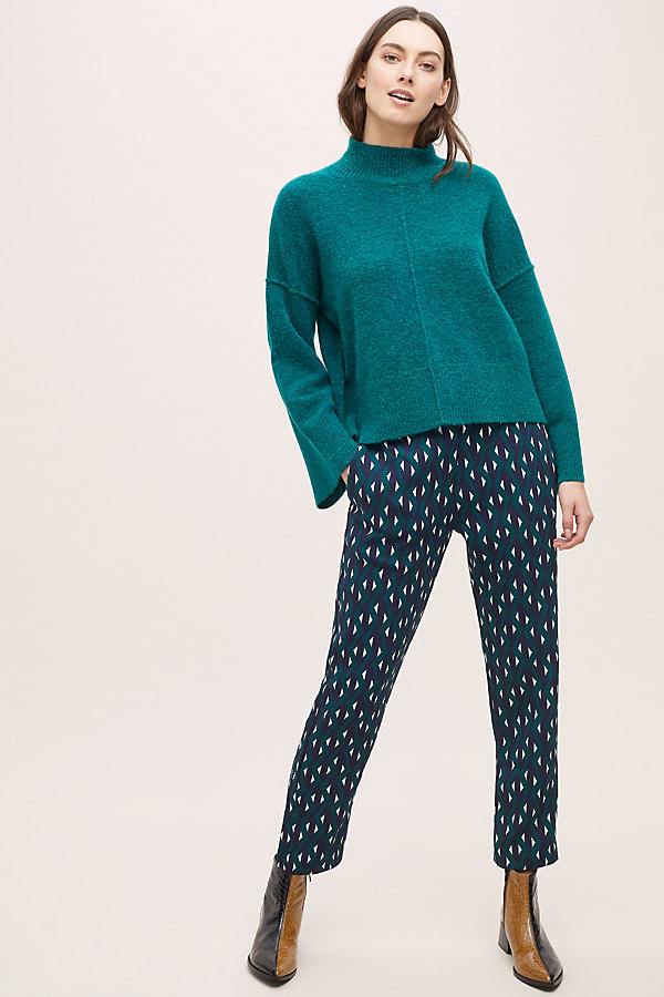 Jimmy Printed Trousers - Green, Size Uk 8