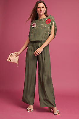 Slide View: 1: Irelyn Embroidered Jumpsuit