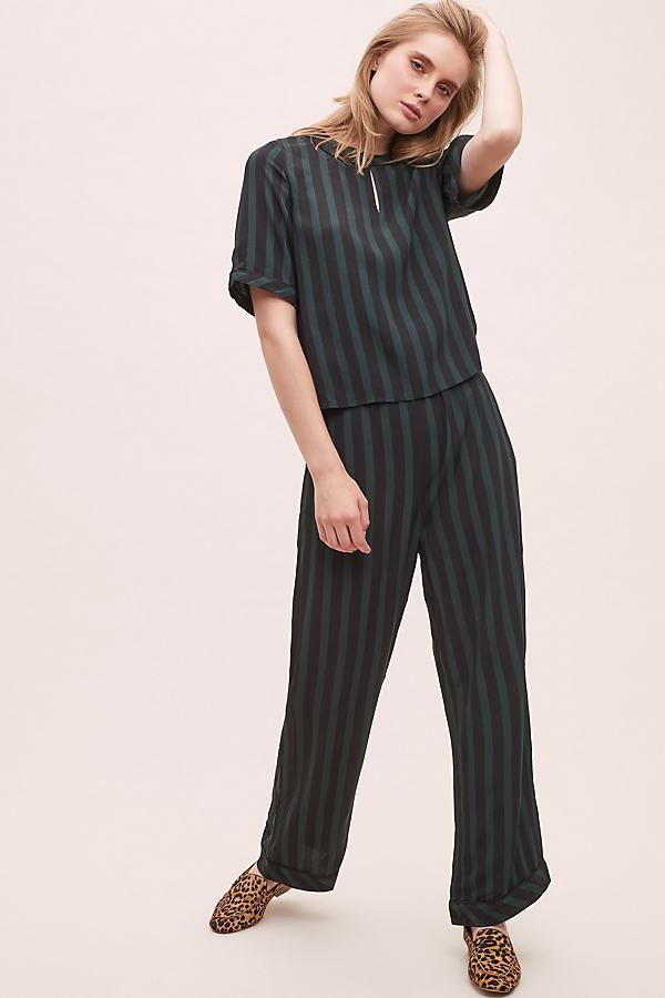 Selected Femme Florenta Striped Jumpsuit - Assorted, Size Uk 10