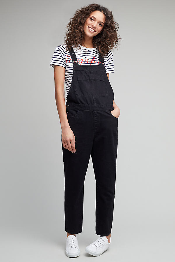 Sankey Denim Dungarees - Black, Size Uk 12