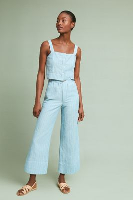 Mc Guire High Waisted Linen Culottes by Mc Guire