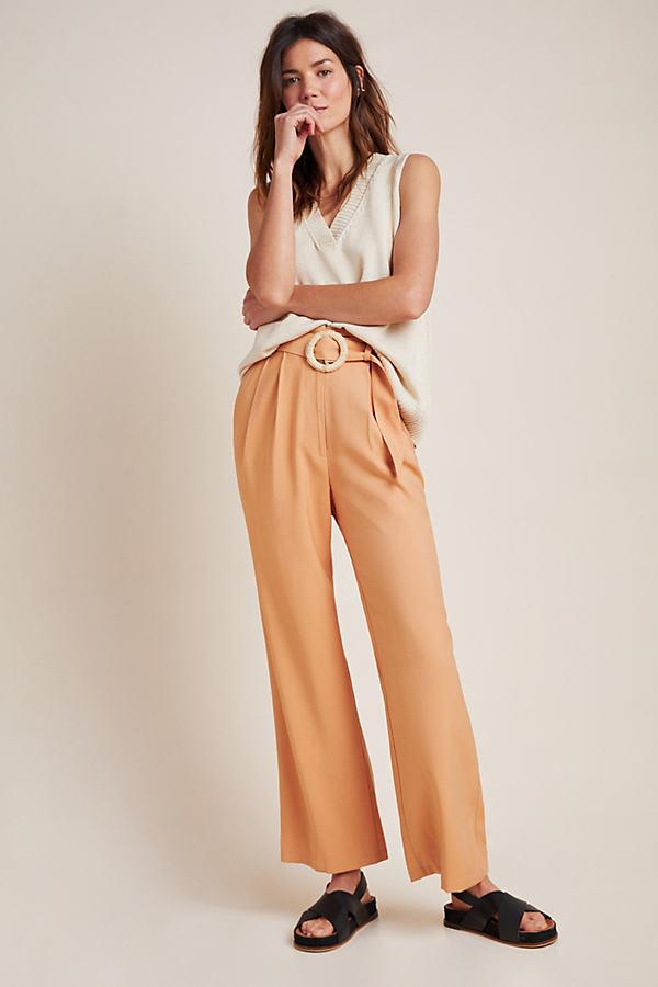 Ellen Belted Wide-Leg Trousers