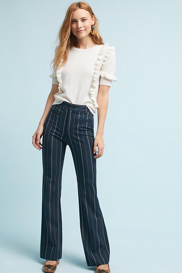 Sylvie Bootcut Trousers, Navy - Navy, Size Uk 8