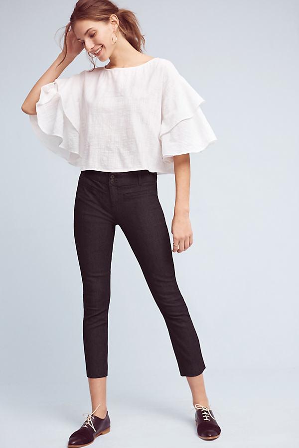 Polished Denim Slim Trousers - Denim Dark, Size Uk 6