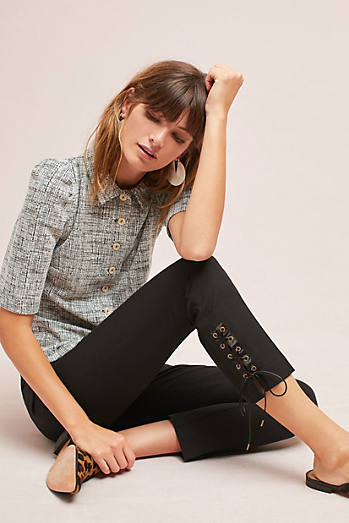 The Essential Slim Lace-Up Trousers