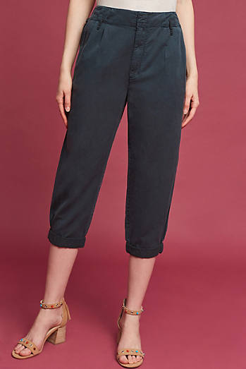Pleated Notch-Back Pants