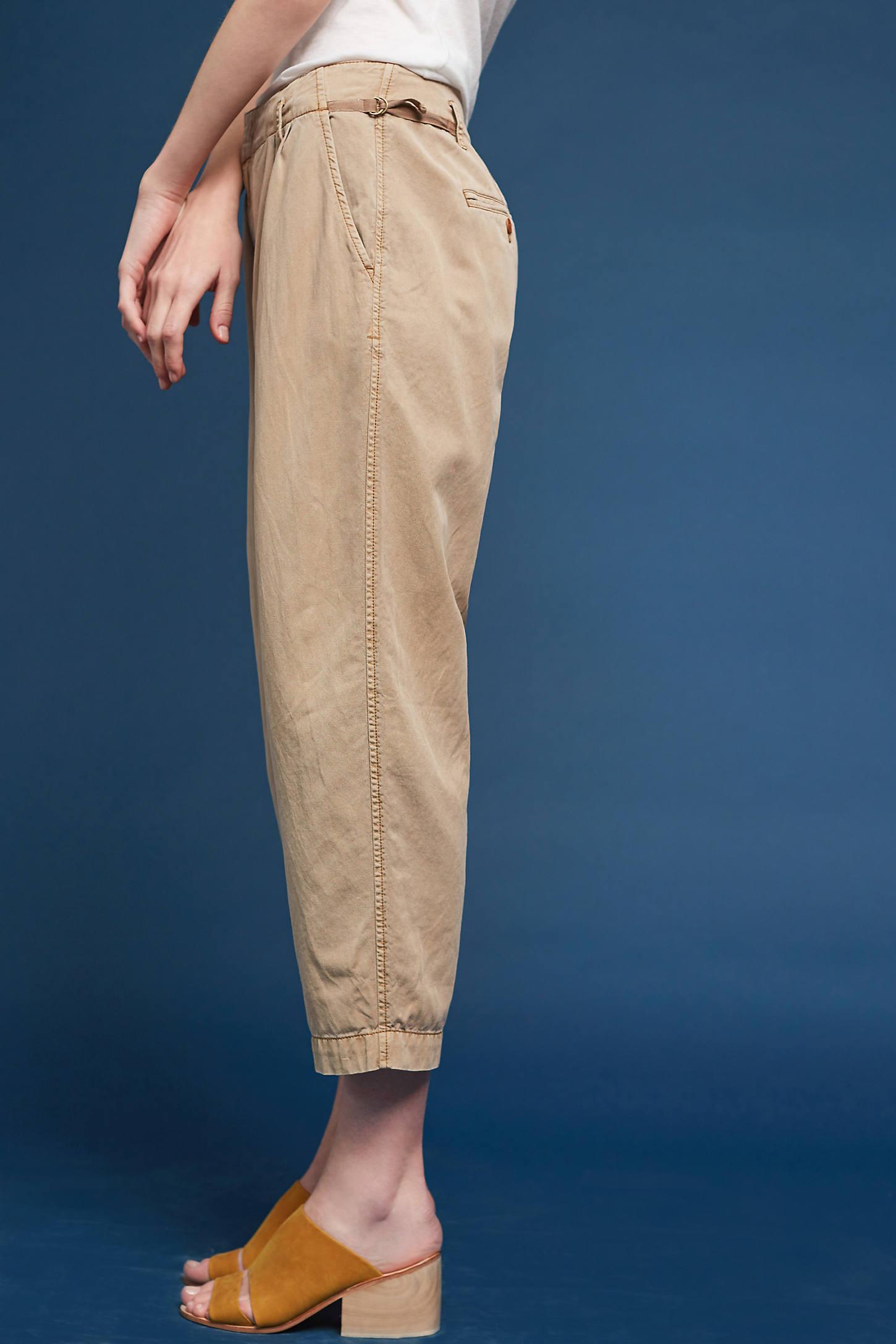 Pleated Notch-Back Pants