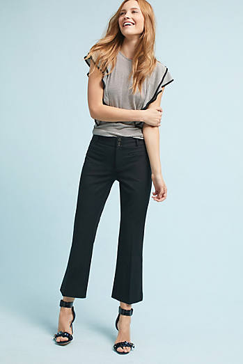 The Essential Crop Flare Trousers
