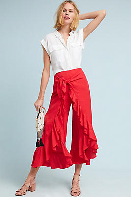 Slide View: 1: Ruffle-Wrapped Pants