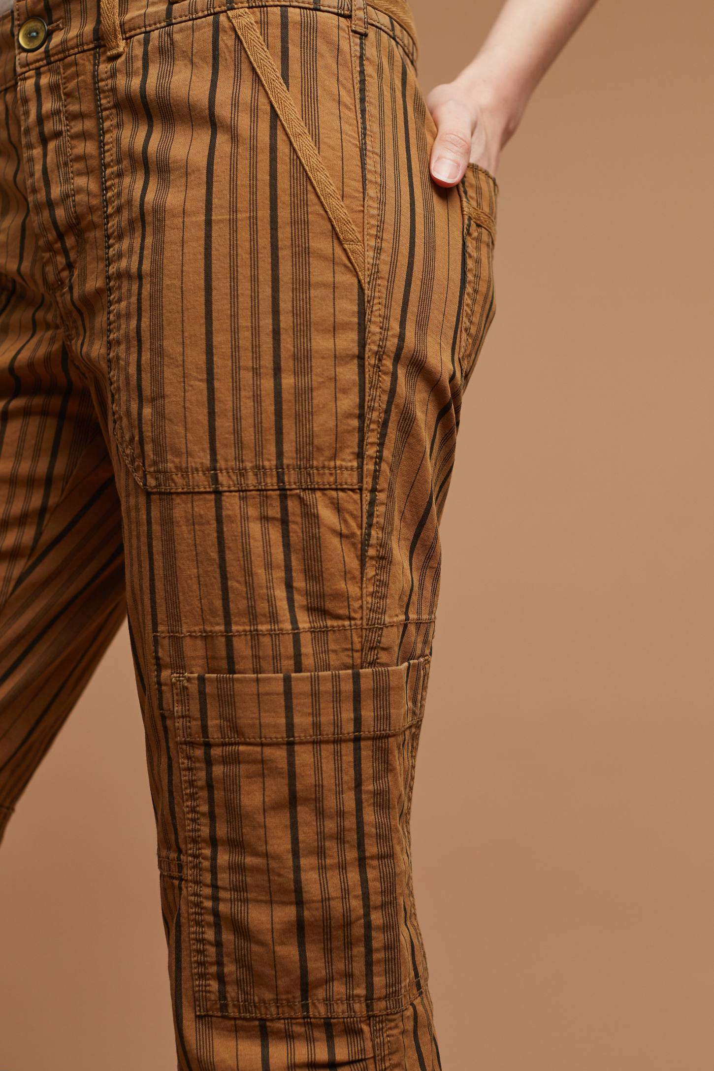 Slide View: 2: Wanderer Striped Cargo Pants