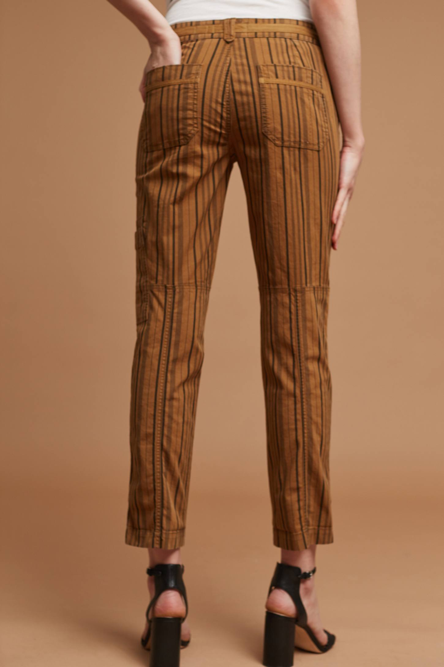 Slide View: 3: Wanderer Striped Cargo Pants