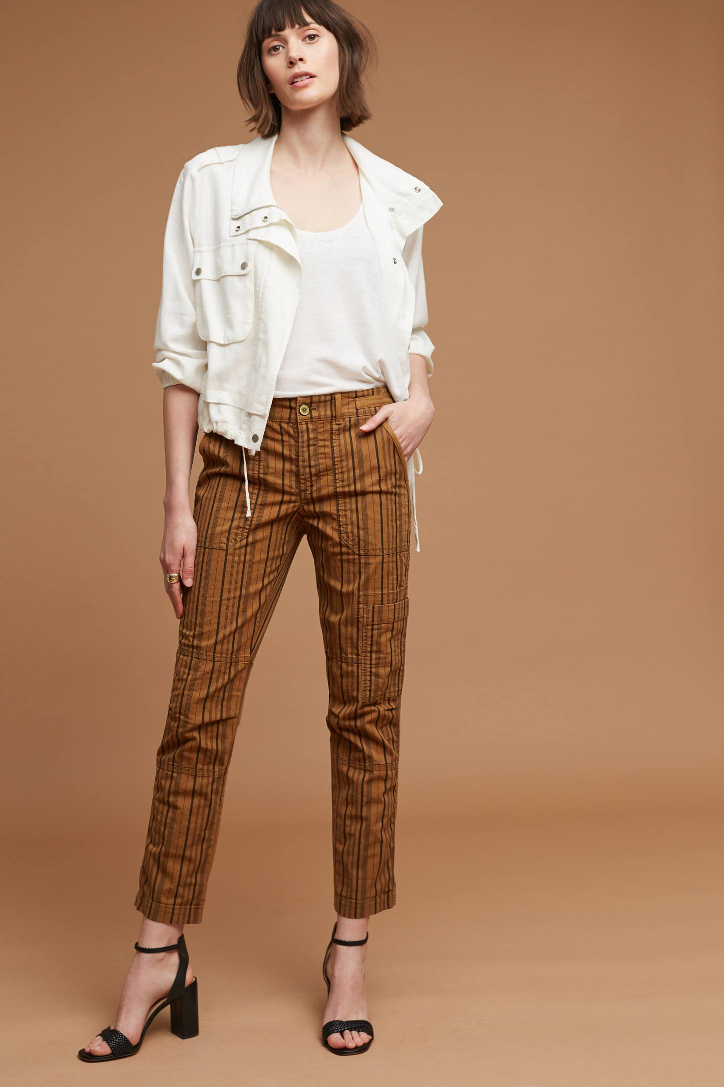 Slide View: 4: Wanderer Striped Cargo Pants