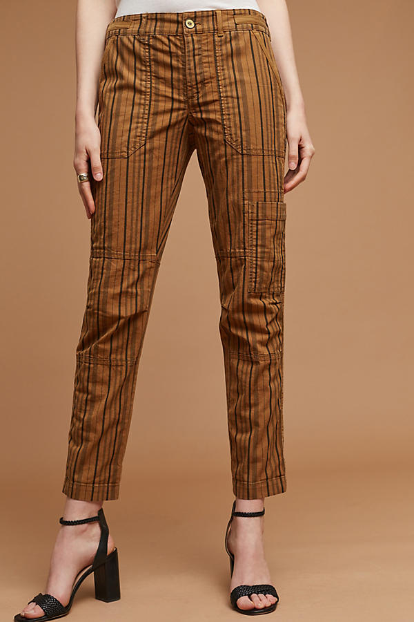 Slide View: 1: Wanderer Striped Cargo Pants