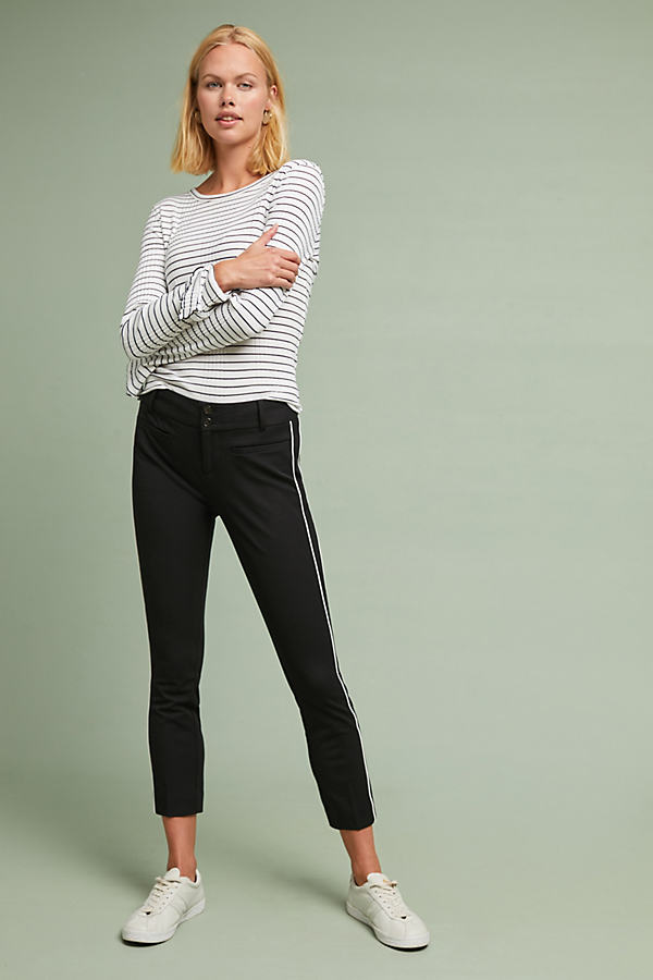 The Essential Slim Trousers - Black, Size Uk 10