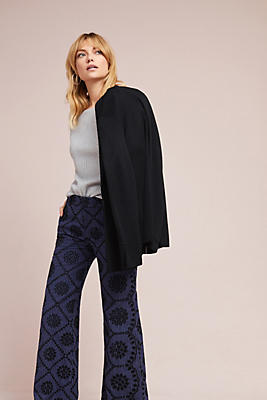 Slide View: 1: Embroidered Eyelet Wide-Leg Pants