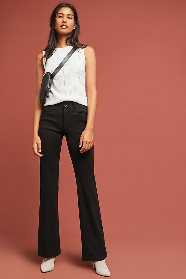 The Essential Ponte Trousers - Black, Size Uk 16