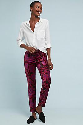 Slide View: 1: The Essential Velvet Slim Trousers