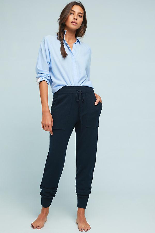 Emily Knit Joggers - Blue, Size L