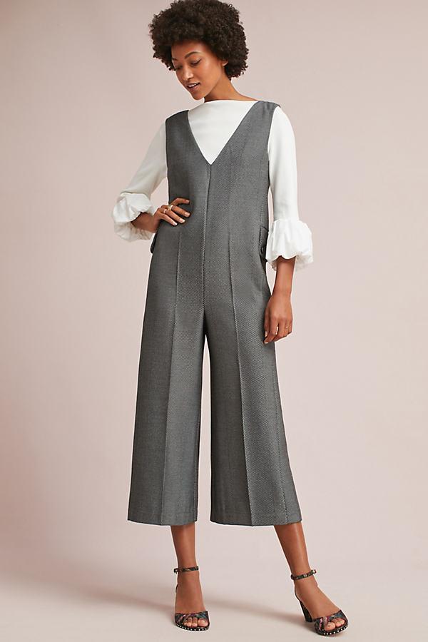 Oxford Jumpsuit - Grey Motif, Size Xs