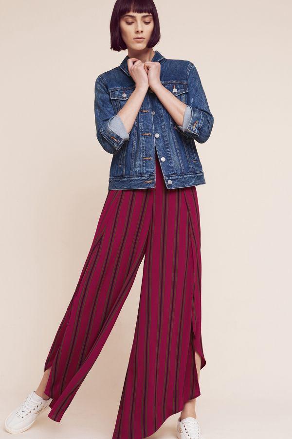Elevenses Striped Tulip Wide-Legs
