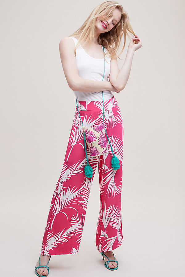 Esnay Printed Cropped Wide-Leg Trousers - Assorted, Size Xs