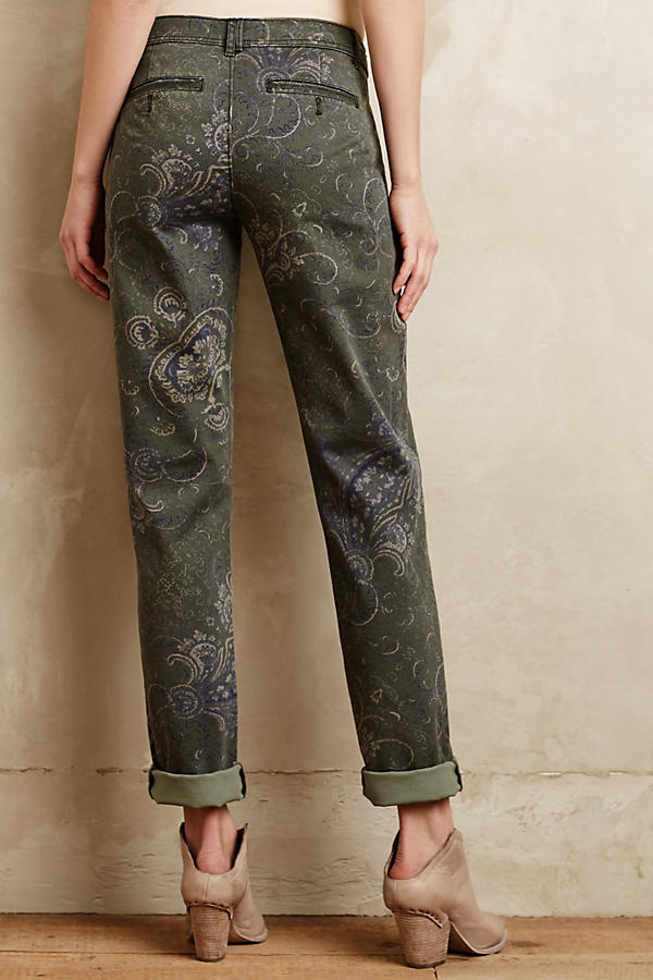 Slide View: 3: Pilcro Hyphen Paisley Chinos