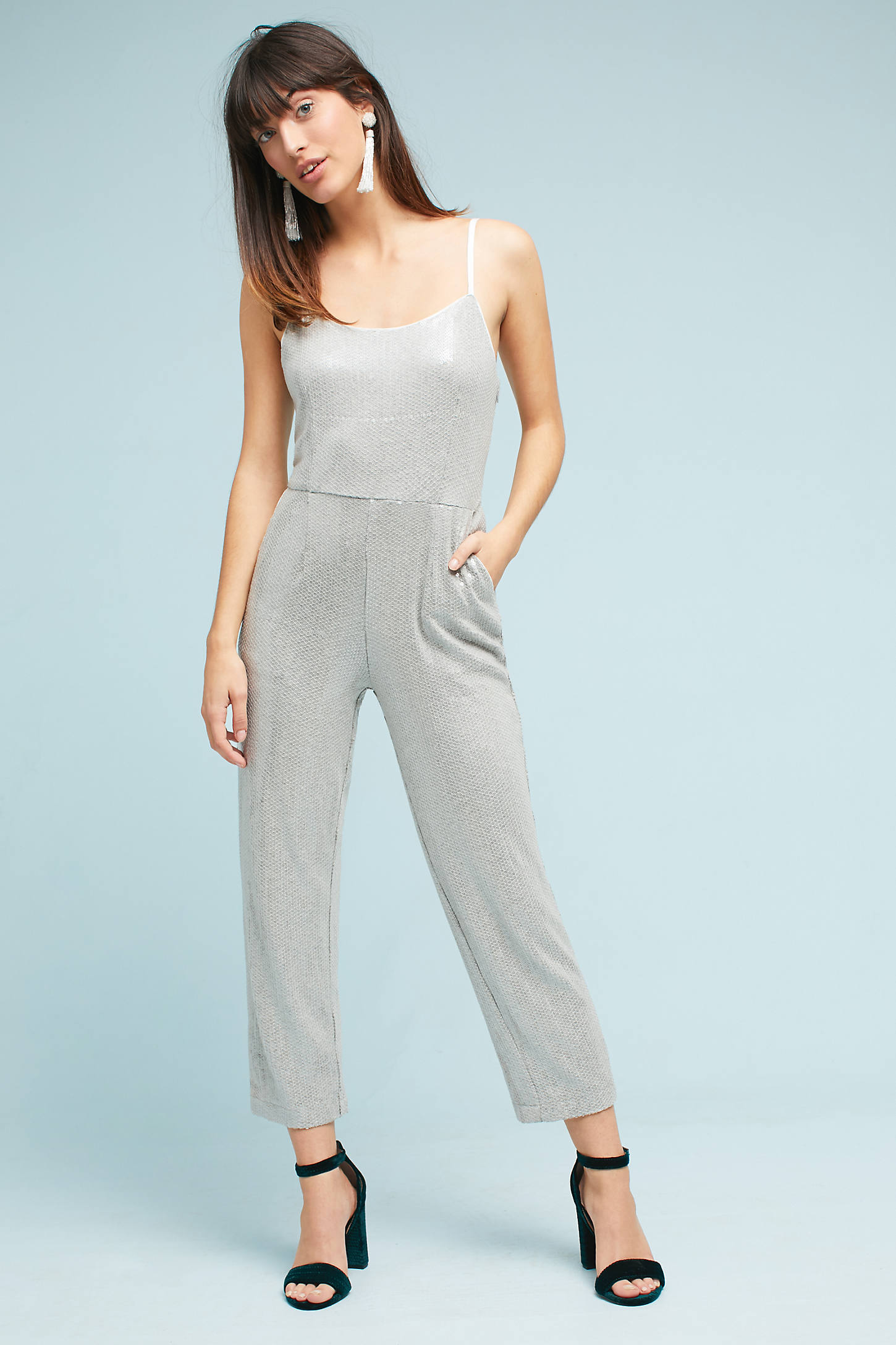 Claudette Sequined Jumpsuit