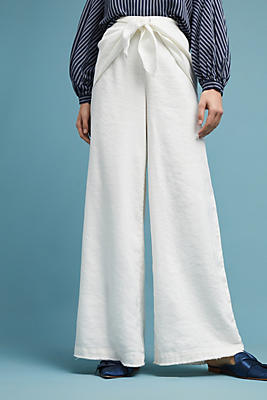 Slide View: 2: Linen Criss-Cross Pants