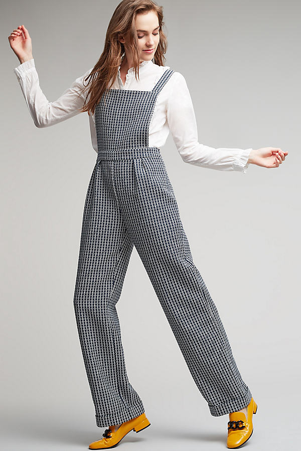 Brooklyn Spotted Jumpsuit, Black - Black & White, Size Uk 8