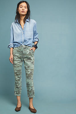 Slide View: 1: AMO Slouch High-Rise Camo Trouser Jeans