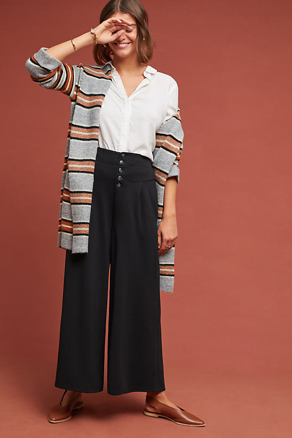 Cropped Lucerne Trousers - Black, Size L