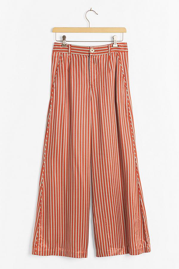 Maeve Alzira Wide-Leg Trousers
