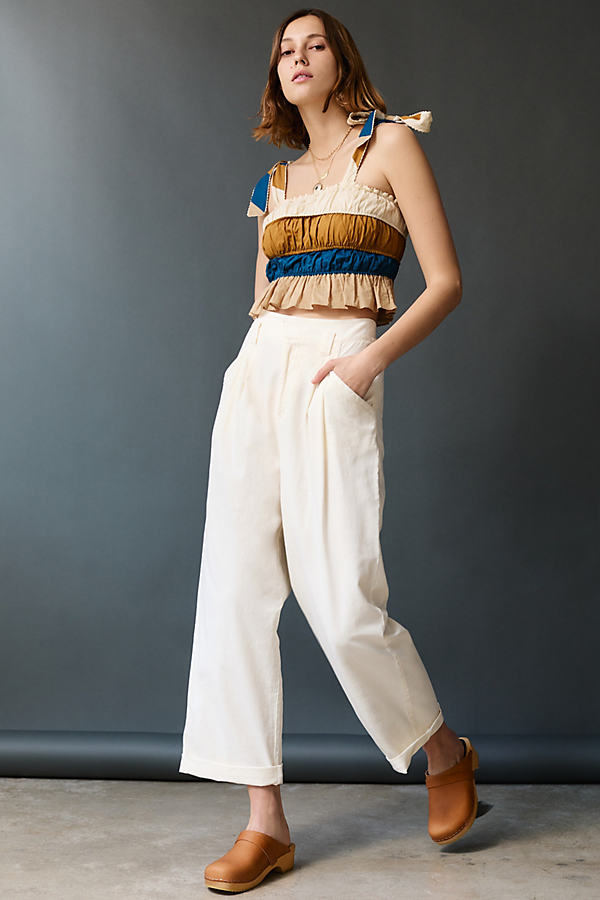 Maeve Aston Pleated Wide Trousers