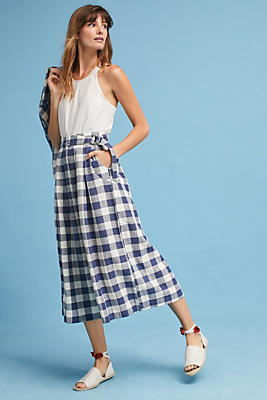 Slide View: 1: Gingham Culottes