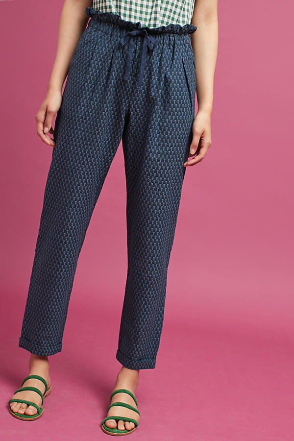 Slide View: 2: Triangle Tapered Pants, Navy