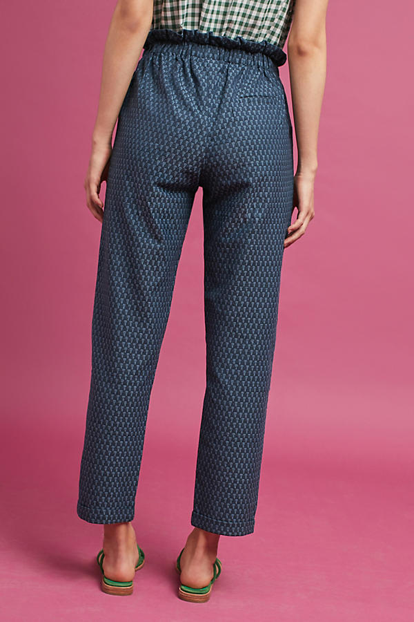 Slide View: 4: Triangle Tapered Pants, Navy