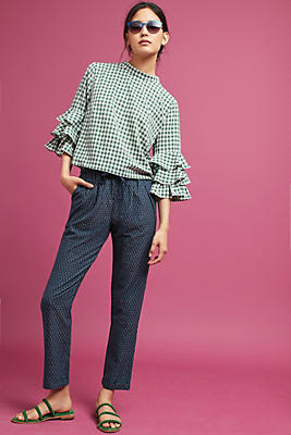 Slide View: 1: Triangle Tapered Pants