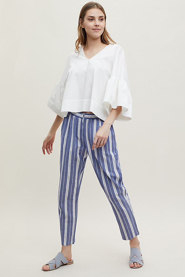 Quinby Striped Trousers - Assorted, Size L