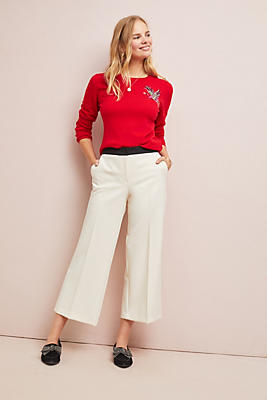 Slide View: 1: Lotus Cropped Wide-Leg Pants