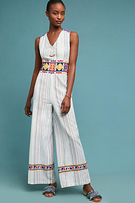 Slide View: 1: Glory Embroidered Jumpsuit