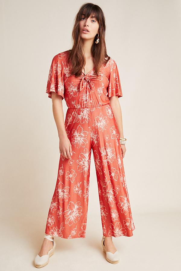 Farm Rio Jacobella Jumpsuit - Red, Size L