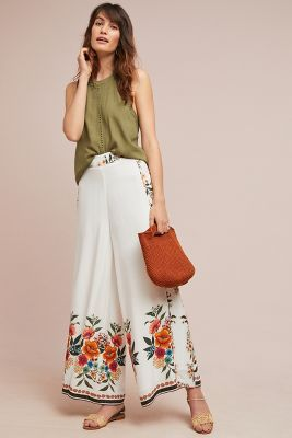 Farm Rio Melila Floral Flared Pants by Farm Rio For Anthropologie