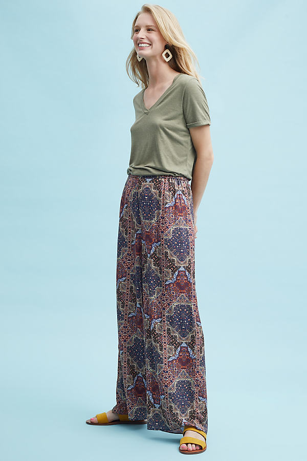 Kourtney Printed Wide-Leg Trousers - Assorted, Size S