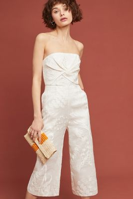 Natalie Embroidered Wide Leg Jumpsuit by Aijek