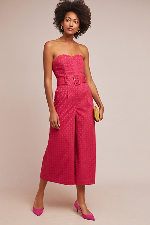 Haley Strapless Jumpsuit - Pink, Size Uk 10