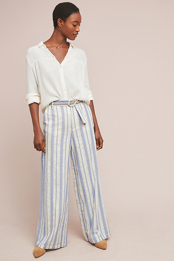 Coastal Striped Trousers - Assorted, Size Uk 10