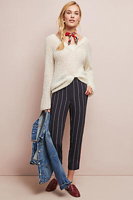 Slide View: 1: Piped + Striped Pants