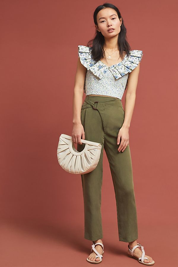 Slide View: 1: Cupro Wrap Trousers