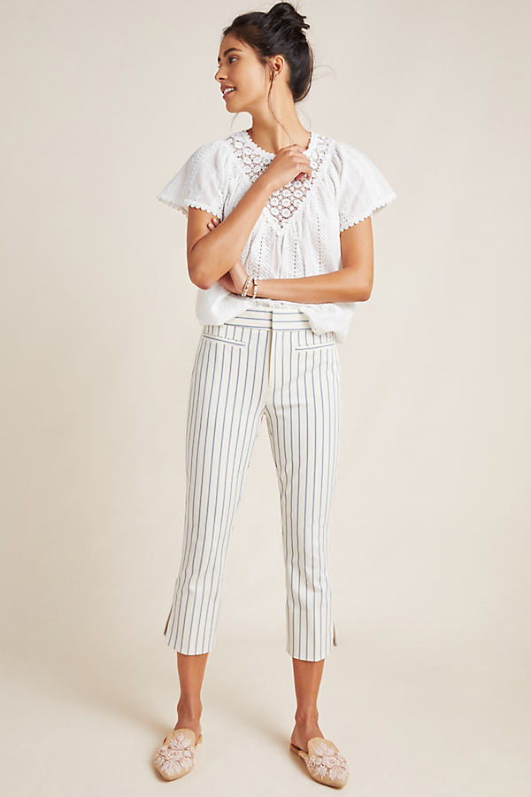 The Essential Capri Trousers - Neutral Motif, Size Uk 10