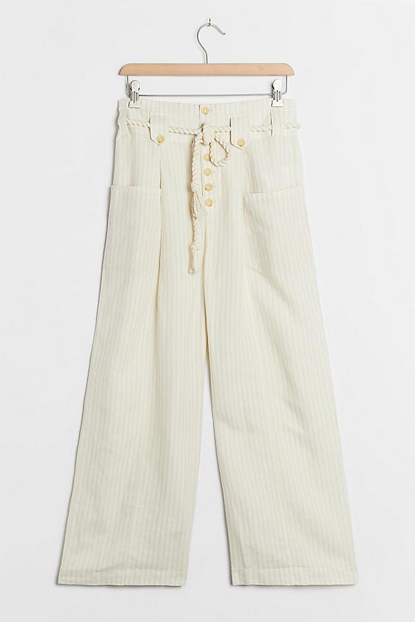 Sammie Striped Paperbag-Waist Trousers